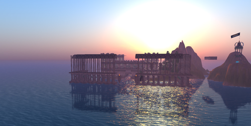 Day break on IBM Opensim Shengri La Spirit
