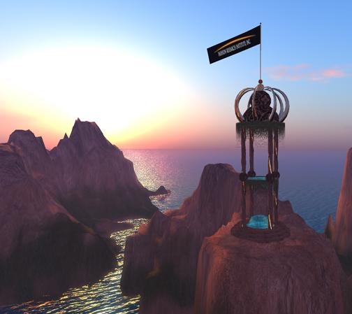 Daybreak over our new sim, Shengri LaSpirit