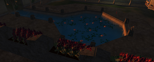 Primwork Lotus flowers in IBM OpenSim Spirit