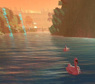 Swans under the Bridge ofDreams