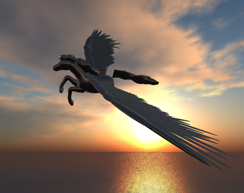 A Pegasid soars in the Westering Sun on Spirit