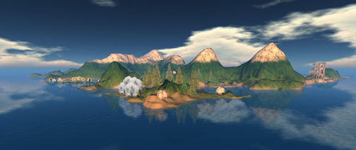 A Sweeping View of the OpenSim Shengri La regions