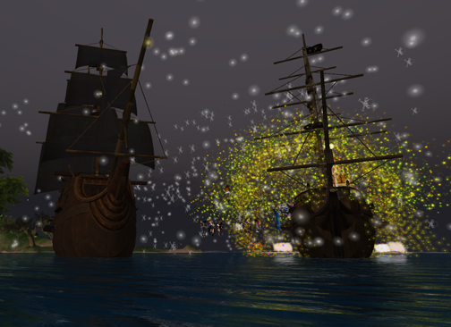The very Awesome Ships provided by Lia Woodget for the Rave