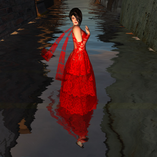 Red Chantilly Lace Dress by Xand Nagy; Photography by Callipygian Christensen